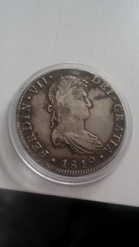 8 reales 1819. Fernando VII. Méjico 20161113_140341