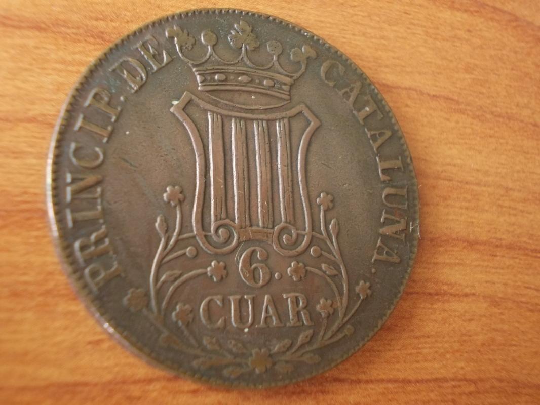 6 Cuartos 1.841. Isabel II. Barcelona DSCN1045