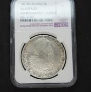 2 monedas de 8 reales Santigo Chile  1794 y 1801 certificadas NGC 1801