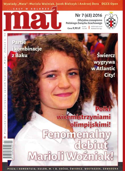 Chess Periodicals :: Czasopismo MAT (Polish Chess Magazine) Mat-63-2016-07