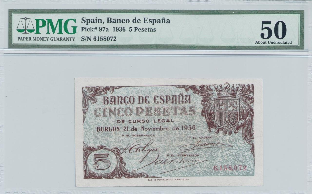 Colección de billetes españoles, sin serie o serie A de Sefcor - Página 3 Azul_del_36_anverso