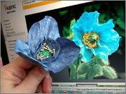 Скрапбукинг. Голубой мак, карандашница или декорваза для сухоцветов. 1_DSCF1950
