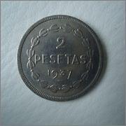 2 pesetas 1937 Euzkadi Image