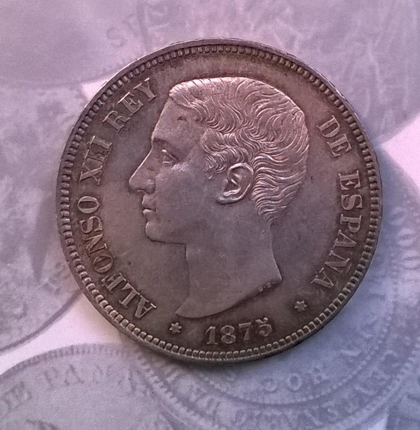5 pesetas 1875, Alfonso XII WP_20150117_015