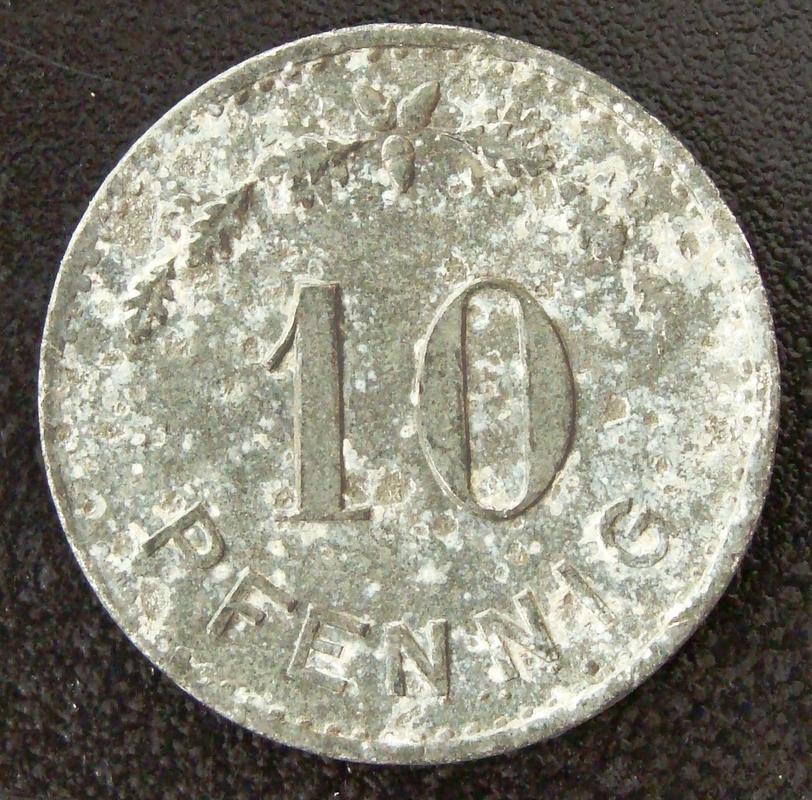 10 Pfennig. Alemania (N.D.) Campo de prisioneros I Guerra Mundial ALE._10_Pfennig_ND_Campo_prisioneros_I_G.M._-_rev