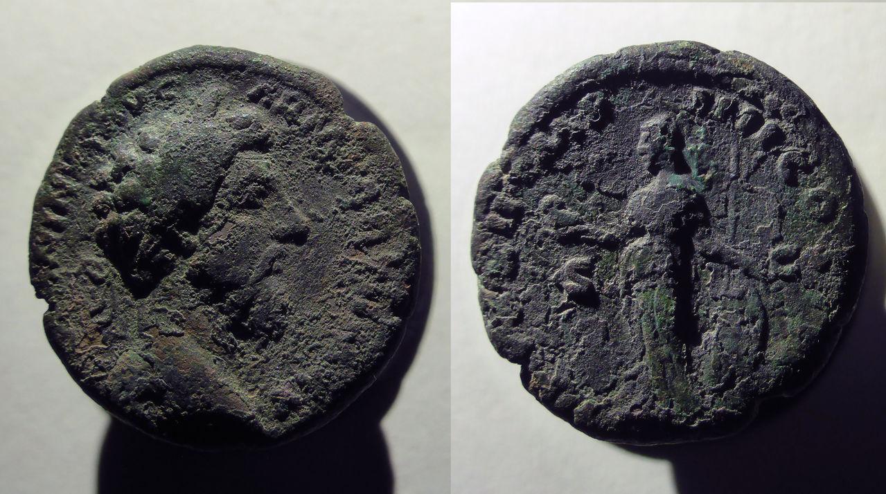 As de Marco Aurelio. TR P XXII IMP IIII COS III (S-C). Minerva. Ceca Roma. MONEDA2