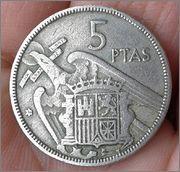 5 pesetas Franco 1957 .. estrella ?? 20160412_164230