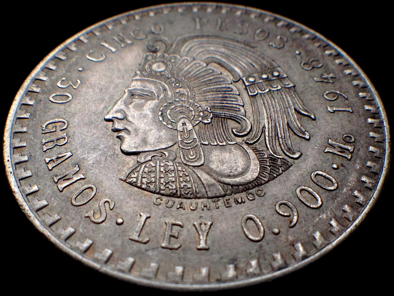 5 Pesos 1948 México Mo IMG_2774