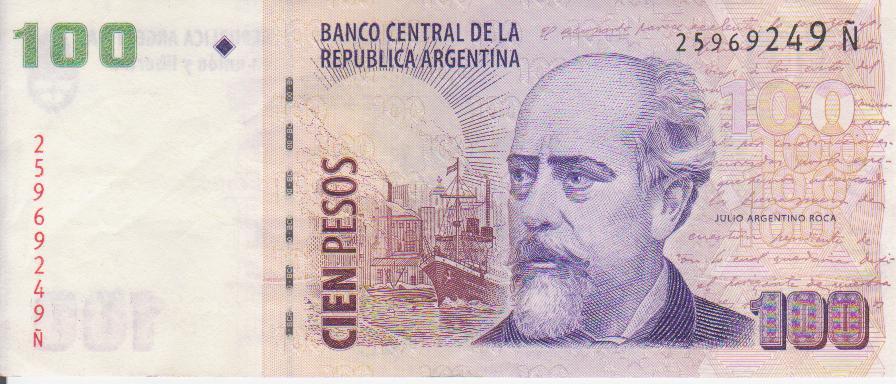 "Billetes del mundo con serie ""Ñ"" 100_pesos_serie_anv"