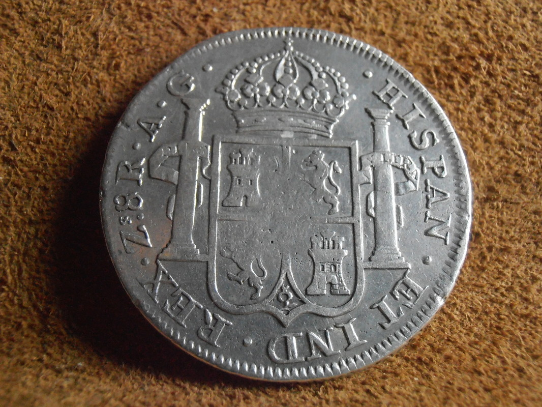 zacatecas - 8 Reales 1819. Fernando VII. Zacatecas AG P5050019