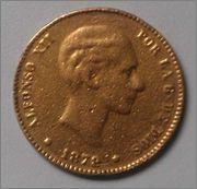 25 pesetas Alfonso XII 1876* 75? Image
