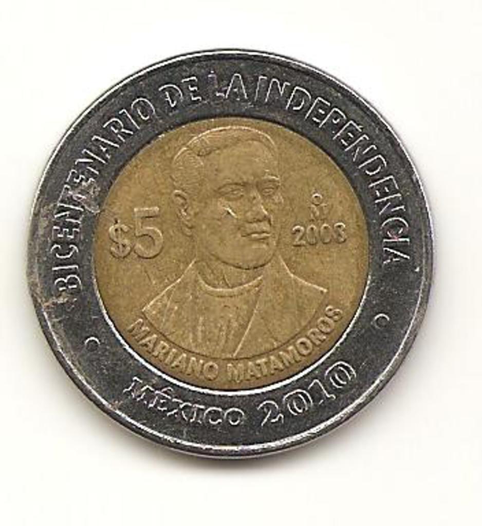 5 Pesos. México. 2008 Image