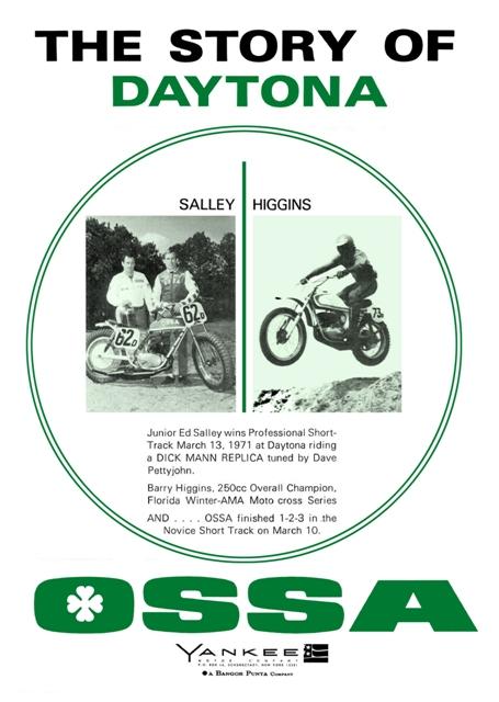 La guapa Debbie nos enseña su Ossa ST 1971_Daytona