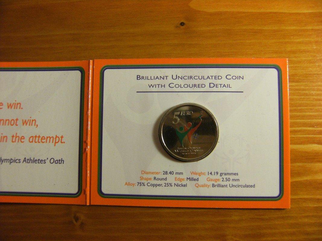 5 euros coloreados Irlanda 2003 DSCF3145