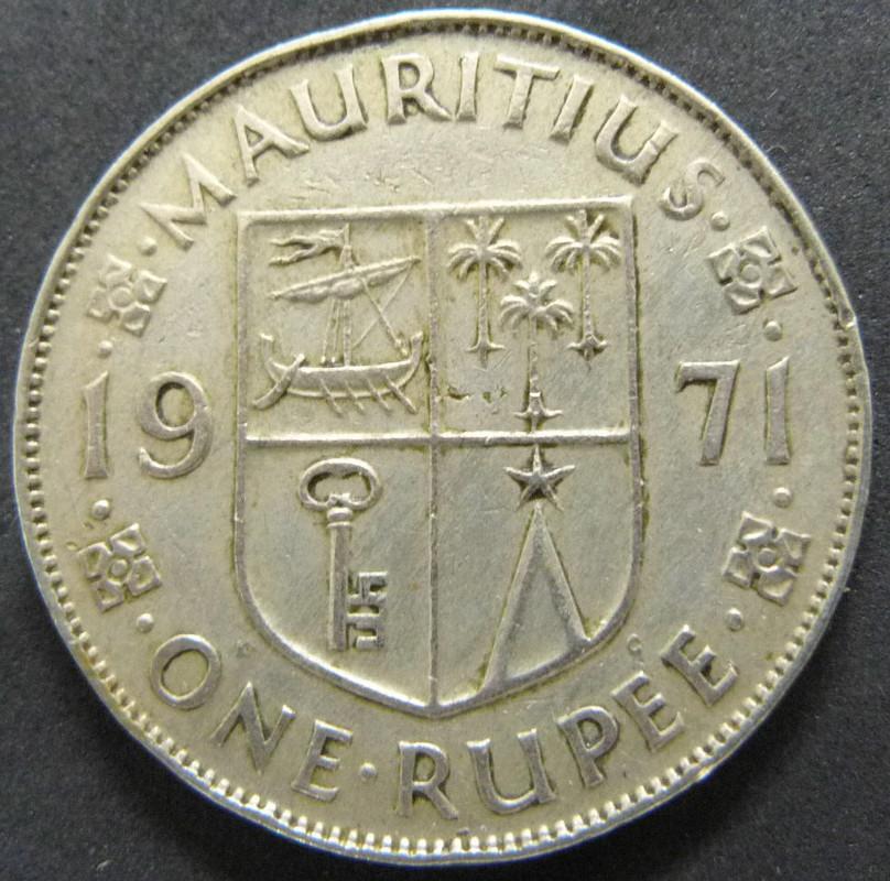 1 Rupee. Islas Mauricio. 1971 MAU_1_Rupia_rev