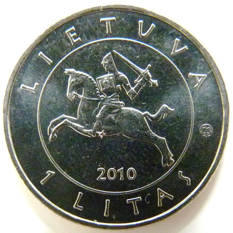 lituania - 1 Litas. Lituania (Batalla de Grunwald) LIT_1_Litas_Batalla_de_Grunwald_anv