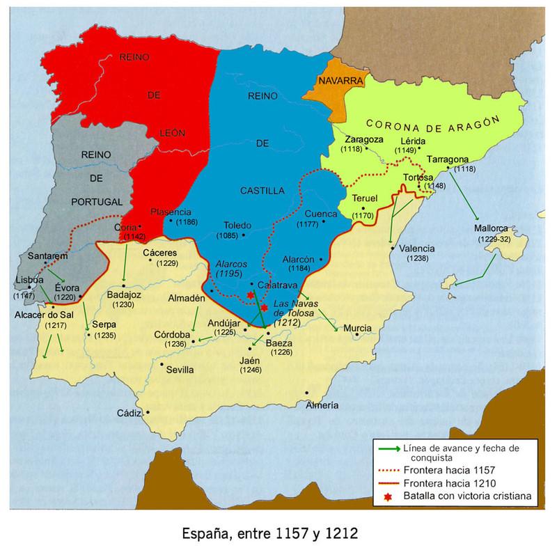 Dineros de Alfonso VIII. La batalla de las Navas de Tolosa. 0_mapa_espa_a_1212