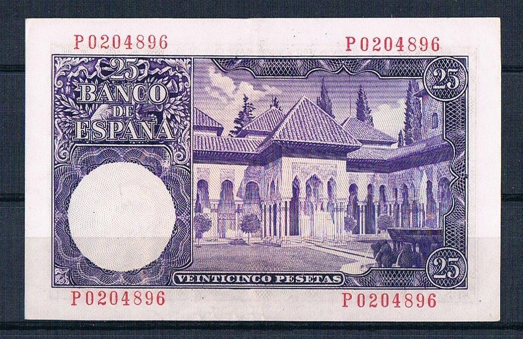 25 Pesetas 1954 (Serie P) Reverso_25_pts_1954_Serie_P_ojo_Rara
