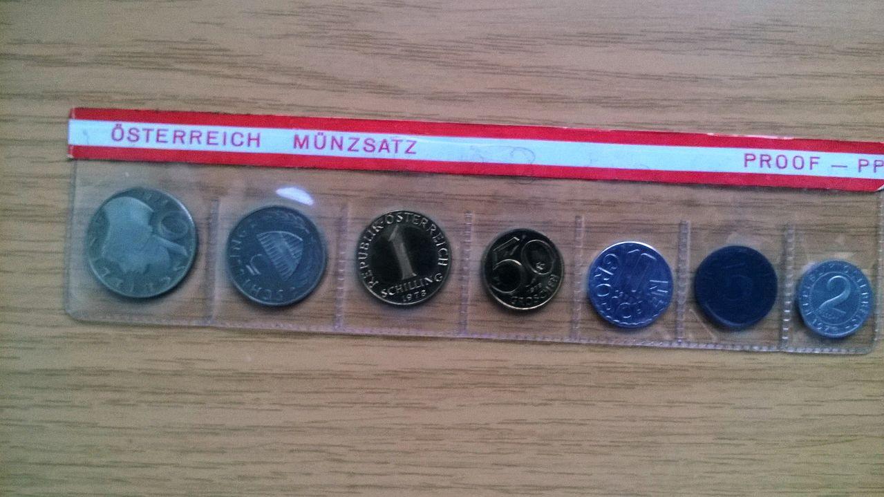 Austria set siete monedas proof 1978 WP_20151003_004