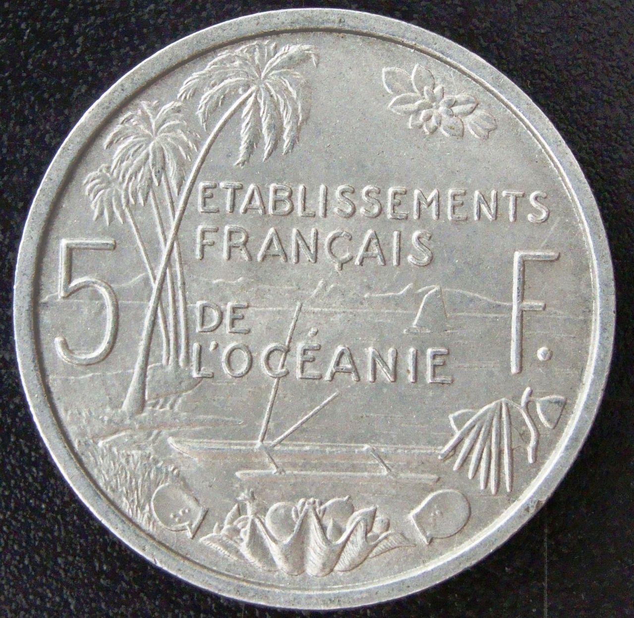 5 Francos. Oceanía francesa (1952) PLI_5_Francos_1952_rev