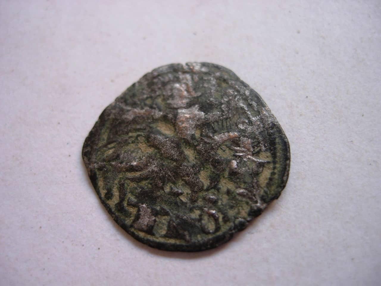 Dinero de Alfonso VIII. Jinete sosteniendo palma. (1158-1214). Toledo. Baj_203