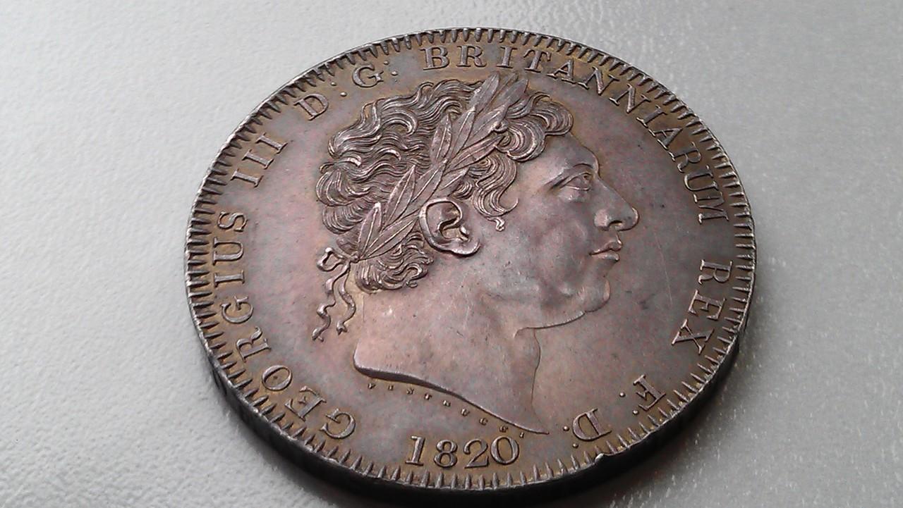 1 corona (crown) 1820  Georgius III   - Dedicada a mi amigo Emiliano IMAG1205