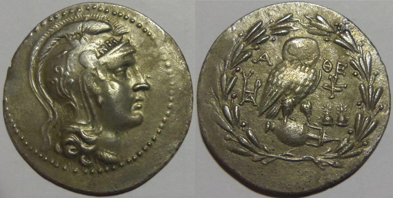 Tetradracma ático de nuevo estilo. Atenas. 154-153 A.C. IMGP3125