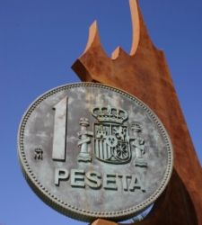 La progesion de la peseta y su decadencia. Peseta_Monumento