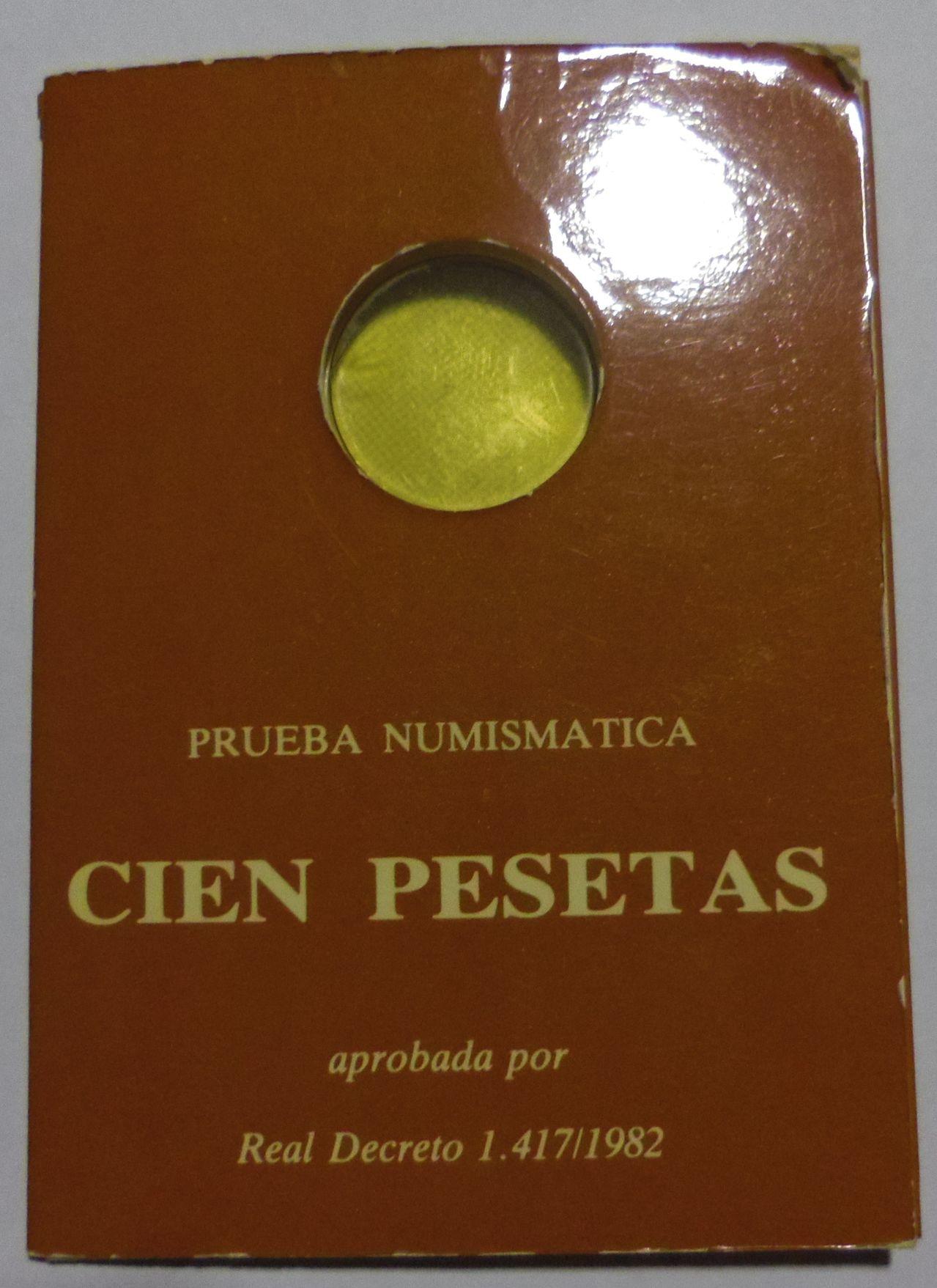100 Pesetas. Juan Carlos I. Madrid. 1982. Cartera de Presentación. IMGP5193