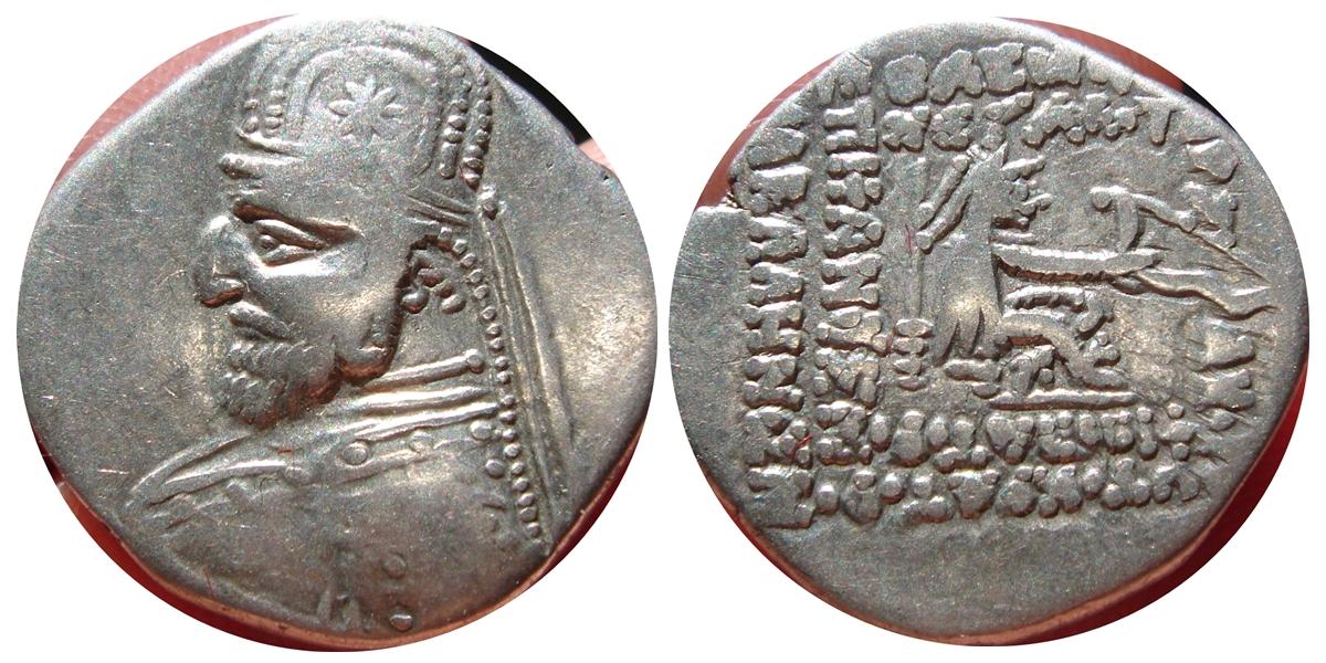 Dracma de Orodes I. 148