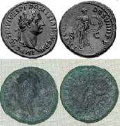As de Domiciano. Minerva estante a dcha. Ceca Roma. Image