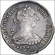 4 Reales Carlos III 1779 Santiago 309_001