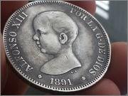 5 pesetas 1891*1891* Alfonso XIII -PGM 20131112_135431