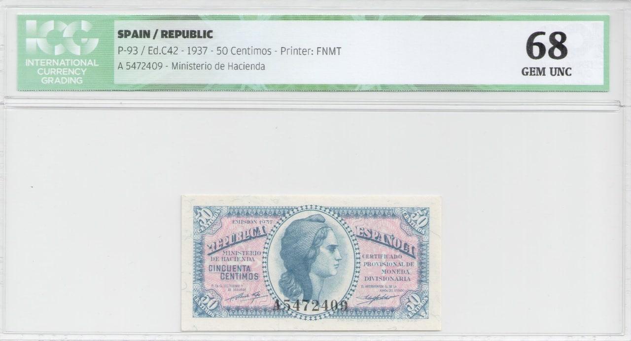 Colección de billetes españoles, sin serie o serie A de Sefcor 50_ctm_del_37_anverso