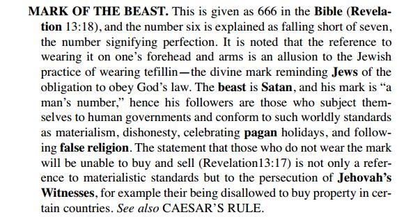 Les Absurdités du christianisme des Témoins de jéhovah JUIFS666