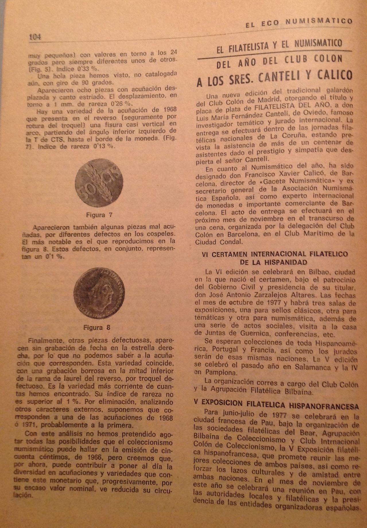 50 céntimos 1966 *70 Estado Español - Página 2 Image