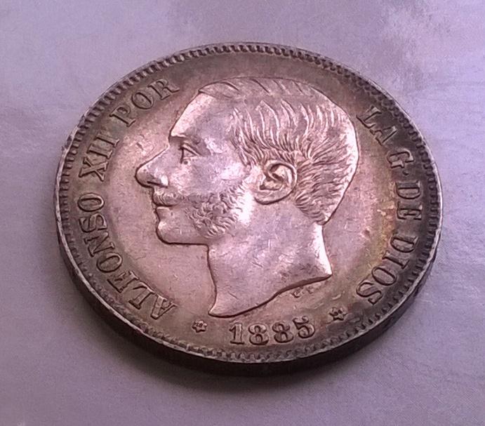 5 pesetas 1885 18*86*, Alfonso XII WP_20150403_008