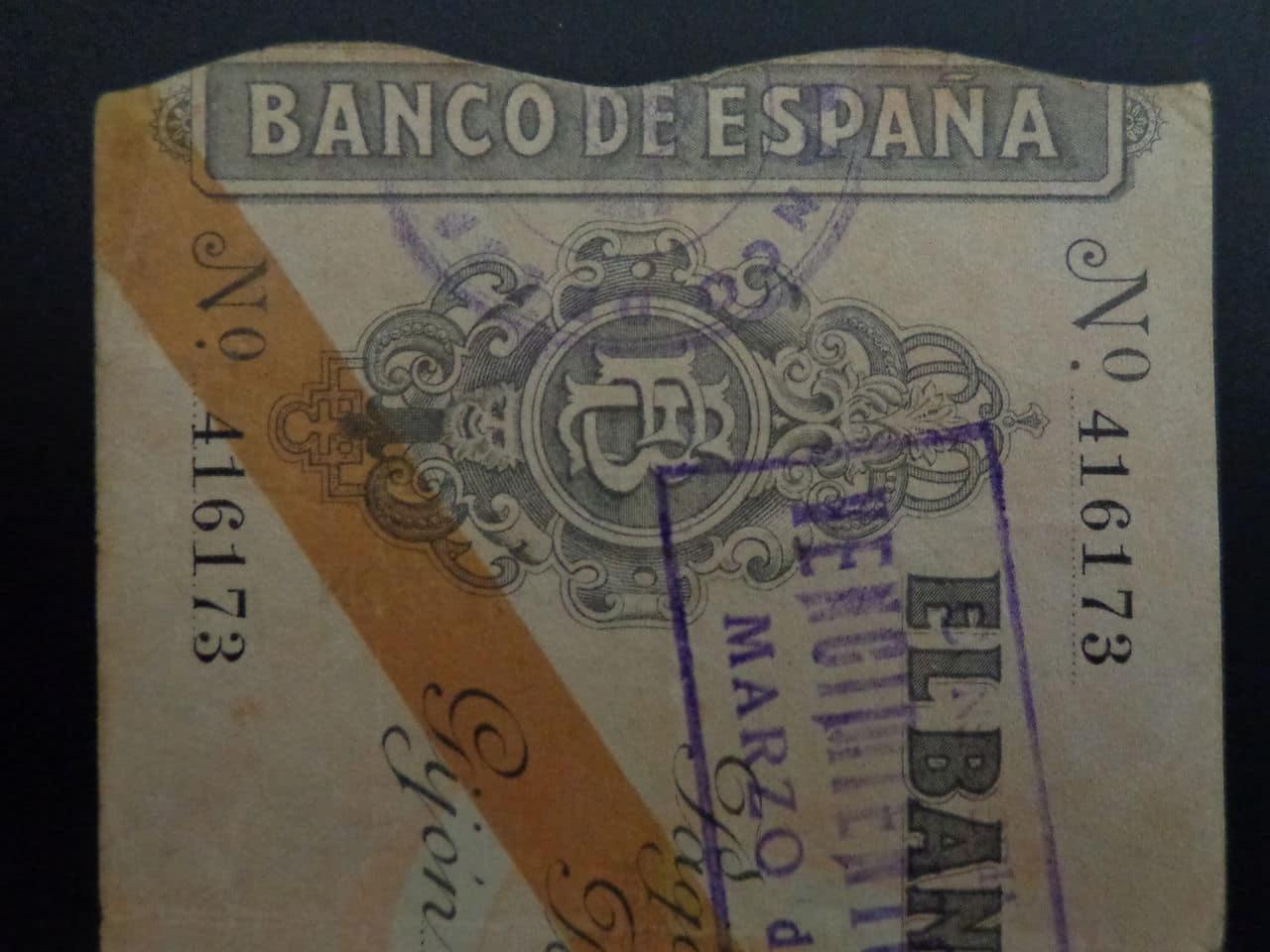 5 Pesetas 5 Noviembre 1936, Banco de España (Gijón)  DSC00675