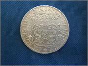 8 reales 1768. Carlos III, México MF P1130024