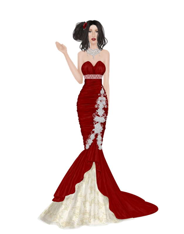 Outfits Hd_Vera_Wang_Red_lace_wedding_gown_contest