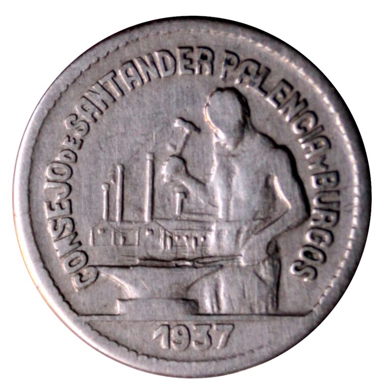 Prueba de oro de los 50 Cts. del Consejo de Santander, Palencia y  Burgos 6_A