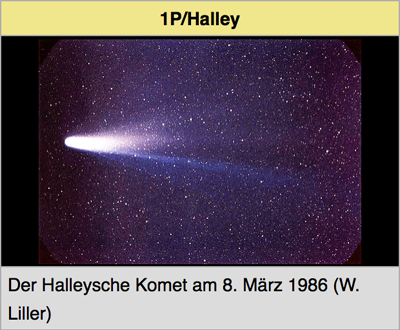 Asteroiden / Meteoriten / Kometen Halley