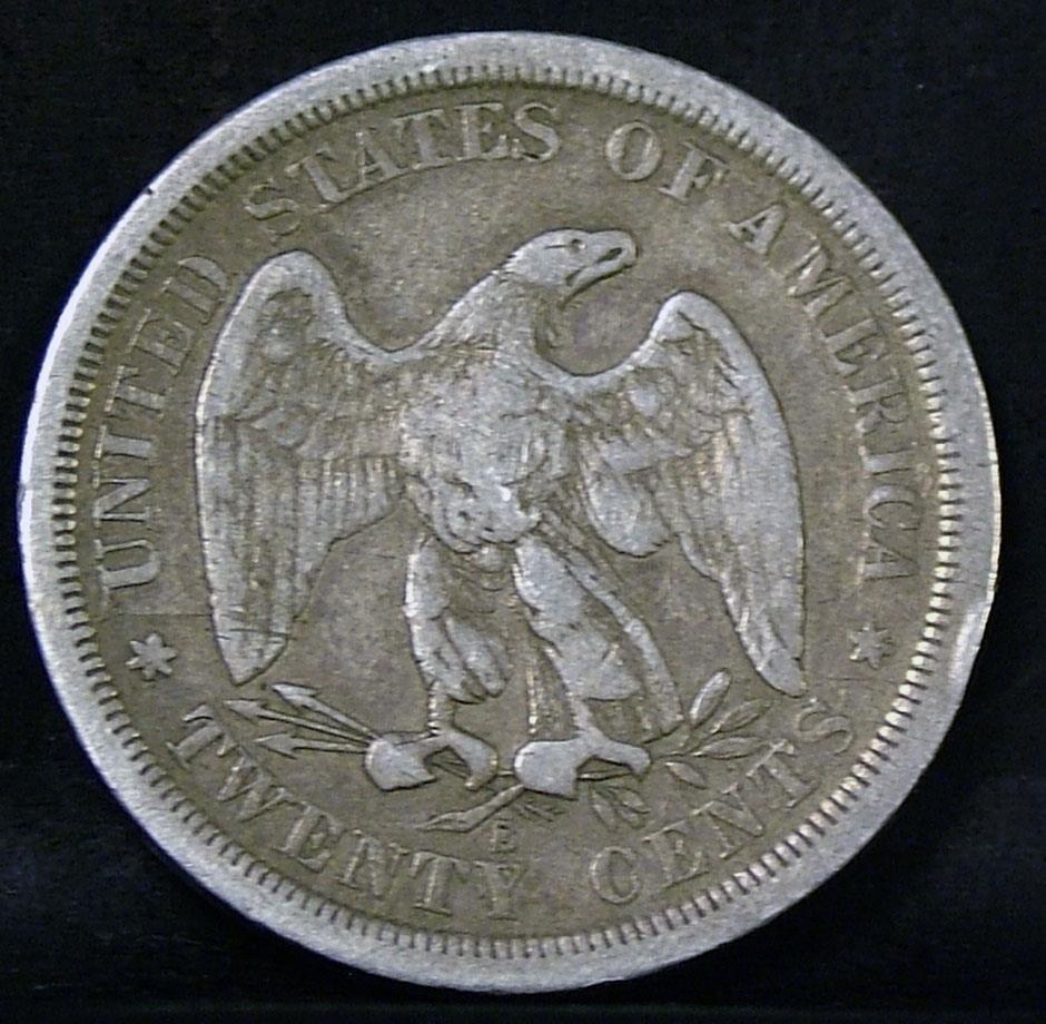 Tipo de moneda Estados Unidos 1875b