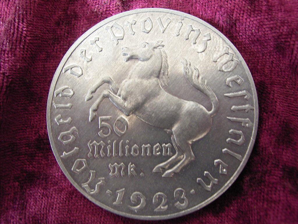Monedas de emergencia emitidas por el banco regional de Westphalia 1923b