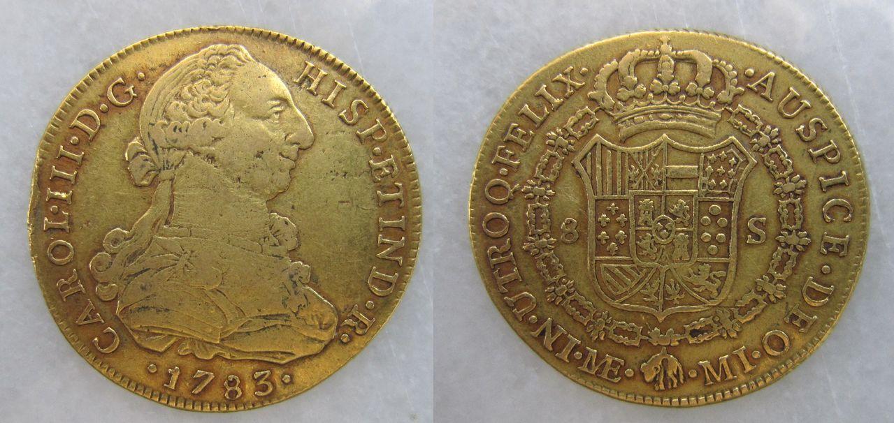 8 Escudos 1798. Carlos IV. Santa Fe de Nuevo Reino 8_escudos_Lima_1783_Carlos_III