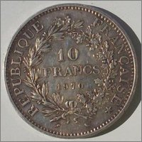 10 Francs. Francia. 1970. París Image