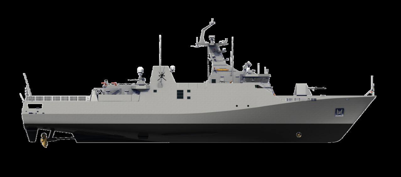 Diseño Damen de 2 generacion para Patrullas Oceanicas y/o Corbetas - Multimodal Sigma_Corvette7513