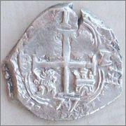 1 real 1677. Carlos II. Potosí. Image