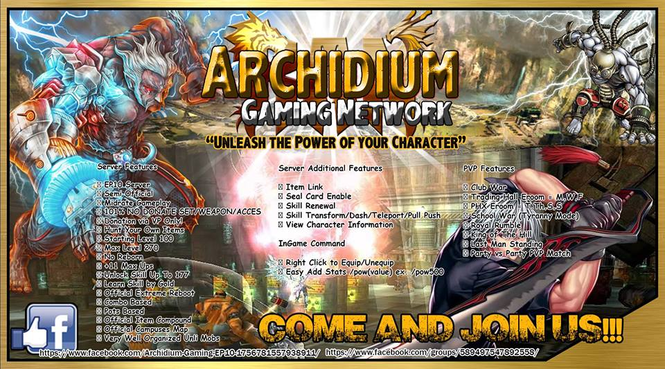 ARCHIDIUM GAMING NETWORK