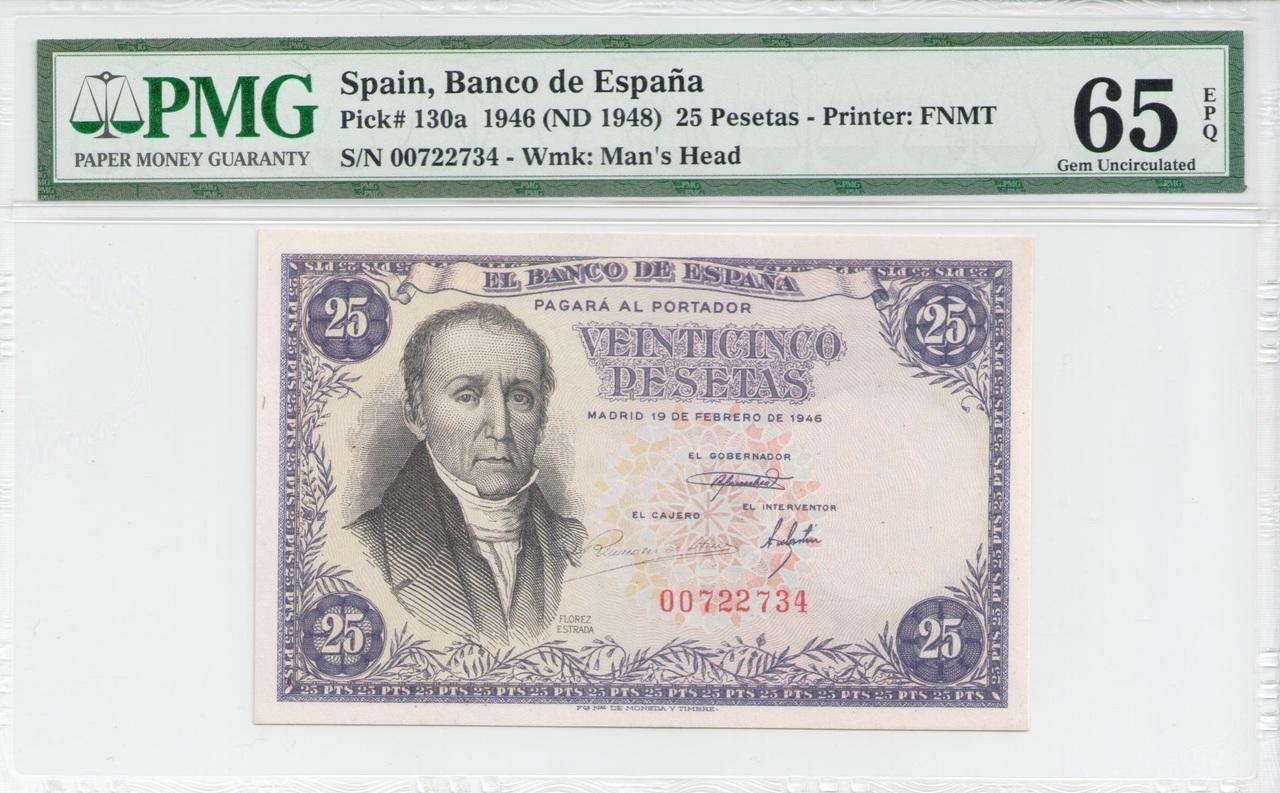 Colección de billetes españoles, sin serie o serie A de Sefcor - Página 4 25_ptas_1946_anverso